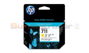 HP NO 711 INK CARTRIDGE YELLOW 29ML TRI-PACK (CZ136A)