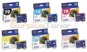 EPSON NO 79 INK BUNDLE PACK (BLACK, CYAN, MAGENTA, YELLOW, LIGHT CYAN, LIGHT MAGENTA) (79-INK-BUNDLE)