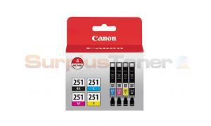 CANON CLI-251 INK TANK CMYK VALUE PACK (6513B004)