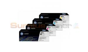HP 305A PRINT CARTRIDGE BUNDLE PACK (BLACK, CYAN, MAGENTA, YELLOW) (HP-305A-BUNDLE)