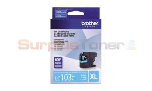 BROTHER MFC-J4610DW INK CARTRIDGE CYAN HY  (LC-103CS)