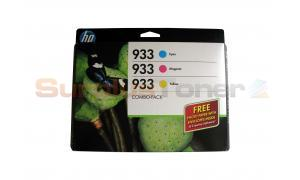 HP NO 933 INK CARTRIDGE COLOR COMBO PACK (B3B32FN)