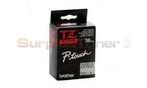 BROTHER TZ FLEXI ID TAPE BLACK ON CLEAR 36MM X 8M (TZ-FX161)