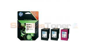 HP 300 INK CARTRIDGE TRI-PACK (BLACK/TRI-COLOR) (SD518AE)