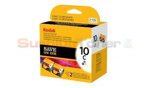 KODAK NO 10C INK CTG COLOR TWIN PACK (1829993)