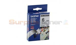 BROTHER P-TOUCH TAPE BLACK/WHITE (1/4 X 26) (TZ-N211)