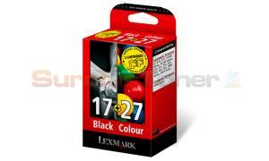 LEXMARK NO 17 27 INK CTG BLACK/COLOR COMBO PACK (0080D2125)