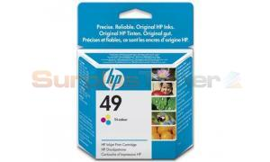 HP NO 49 INKJET CARTRIDGE TRI-COLOUR 160 PAGES (51649NE)