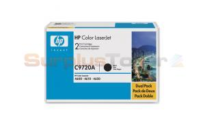 HP CLJ 4650 PRINT CART BLACK DUAL PACK (C9720AD)