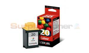 LEXMARK NO 20 PRINT CARTRIDGE TRI-COLOR (15M0120E)