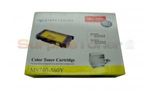 MEDIA SCIENCES TONER YELLOW HY FOR TEKTRONIX PHSR 740 (MS740-560Y)
