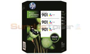 HP NO 901 INK TRI-COLOR 3 PACK (CZ702BN)
