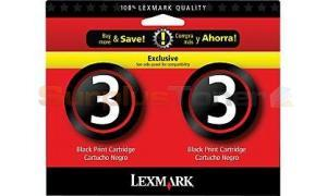 LEXMARK #3 INK CART BLACK TWIN PACK (18C1730)