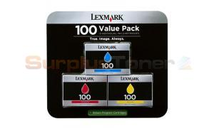 LEXMARK NO 100 INK CARTRIDGES CMY TRI PACK RP (14N1185)