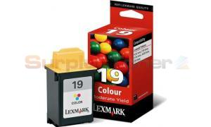 LEXMARK NO 19 MODERATE USE PRINT CARTRIDGE COLOR (15M2619BR)