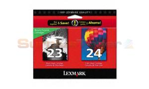 LEXMARK 23/24 INK CTG BLACK/COLOR RP (18C1419BE)