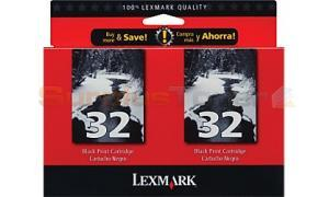 LEXMARK NO 32 PRINT CARTRIDGE BLACK (18C0646)