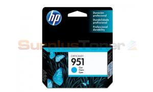 HP OFFICEJET NO 951 INK CARTRIDGE CYAN (CN050AL)