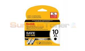 KODAK 10XL INK CARTRIDGE BLACK TWO-PACK (1270917)
