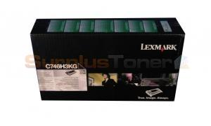 LEXMARK C746 CORPORATE TONER CARTRIDGE BLACK 12K (C746H3KG)