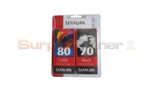 LEXMARK NO 70 80 INK CTG BLACK/CMY COMBO PACK (15M2745)