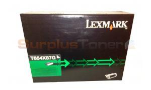 LEXMARK T654 TONER CARTRIDGE BLACK XHY (T654X87G)