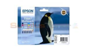 EPSON RX700 INK CTG CMYK LC LM MULTIPACK (C13T55974020)