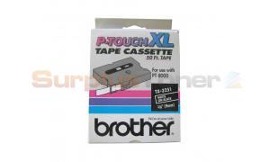 BROTHER P-TOUCH TAPE WHITE ON BLACK (3/8 X 50) (TX-3251)
