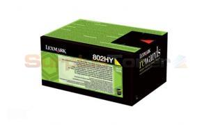 LEXMARK CX510 RP TONER CARTRIDGE YELLOW 3K (80C2HY0)