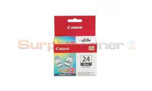 CANON BCI-24 INK CARTRIDGE BLACK TWIN PACK (6881A011[AB])