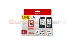 CANON PG-245XL CL-246XL INK CMYK PLUS PAPER (8278B005[AA])