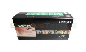LEXMARK E360N CORPORATE TONER CARTRIDGE BLACK 9K (E360H31G)