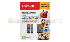 CANON PGI-220/CLI-221 INK BLACK/COLOR VALUE PACK (2945B005[AA])