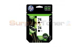 HP NO 74 INK CARTRIDGE BLACK TWIN PACK (SD462WN)