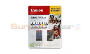 CANON CLI-8 PGI-5 INK CART CMYK PGBK VALUE PACK (0628B020[AB])