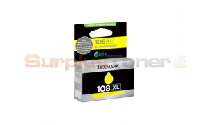LEXMARK 108XL INK CARTRIDGE YELLOW RP HY (14N0662)
