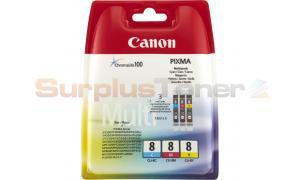 CANON CLI-8 INK CARTRIDGE MULTI PACK CMY (0621B036[AA])