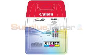 CANON CLI-521 INK CARTRIDGES MULTIPACK CMY (2934B011[AA])