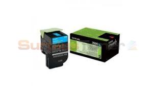 LEXMARK CS410 RP TONER CARTRIDGE CYAN 1K (70C20C0)