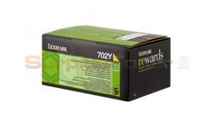 LEXMARK CS410 RP TONER CARTRIDGE YELLOW 1K (70C20Y0)