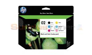 HP 02 INK CARTRIDGE BLACK/COLOR COMBO-PACK (CH611FN)