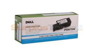 DELL 1250C 1355CN TONER CART CYAN 1.4K (331-0777)