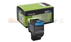 LEXMARK CX510 TONER CARTRIDGE CYAN RP (80C20C0)