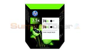 HP NO 74XL INK CARTRIDGE BLACK TWIN PACK HY (CH623BN)
