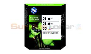 HP 21 22 INK CTG BLACK/COLOR COMBO PACK (CB311BN)