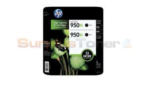 HP OFFICEJET NO 950XL INK CARTRIDGE BLACK TWIN PACK (CR317BN)