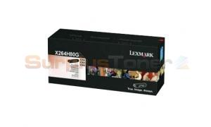 LEXMARK X264 TONER CARTRIDGE BLACK 9K (X264H80G)