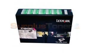 LEXMARK X748 TONER CARTRIDGE MAGENTA (X748H3MG)