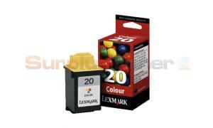 LEXMARK 20 INK CARTRIDGE COLOR (15MX120BL)