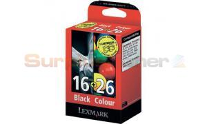 LEXMARK 16/26 INK CTG BLACK/COLOR (80D2126B)